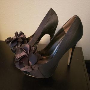 bebe - black heels 8